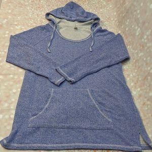 Pimatee Hoodie Heather Blue Tunic Sweatshirt XL